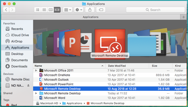 Configuring V10 Microsoft Remote Desktop Client For Mac (Importing
